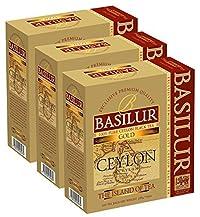 Basilur   Island of Tea Collection   100% Pure Ceylon Black Tea  100 Teabags String & Tag   Non GMO   All Natural   Garden Fresh & Antioxidant Rich   (Pack of 3)