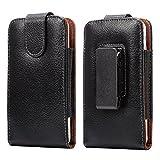 LORDWEY® Funda 5.5 Inch Universal teléfono móvil cinturón Caso de la Bolsa, Cuero de la PU Caja de la Cartera de la Cintura Smartphone Bolsa con Hebilla Lanzamiento Rápido para Teléfono
