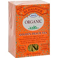 St. Dalfour Organic Tea, Golden Peach, 25 ct