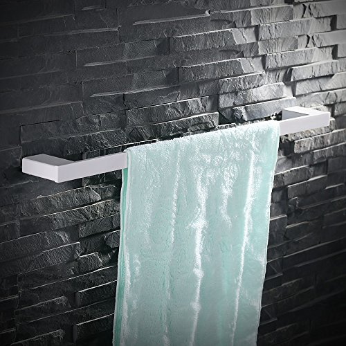 Homelody®Weiß Handtuchhalter ss304 Edelstahl Handtuchstange Handtuchständer Bad,rostfrei, 60cm