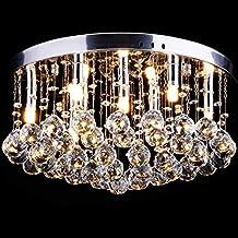 Lámpara Araña de Techo de Cristal Instalación Fija con Lámpara de Techo de Cristal Ø 45cm 9x G9 para Recibidor, Barra, Cocina, Comedor, Habitación Niños
