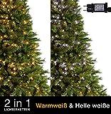 Weihnachts-Lichterketten 100 LED 2 in 1 Warmweiß und helle weiße Baum-Lichter Innen- und im Freiengebrauch, feenhafte Lichter 10m/33ft Lit-Länge - Grünes Kabel