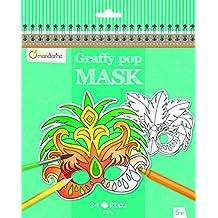 Avenue Mandarine Graffy Rio Carnival pop maschera da colorare, colore: Nero/Bianco