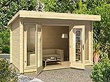Casetta giardino DORSET legno nordico GARTENPRO 408x268x234/211H