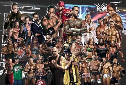 WWE WRESTLING SUPERSTARS XL RIESEN Poster, A1, ca. 58 x 87 cm