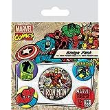 Badgepack 5 Pezzi Marvel Retro Iron Man