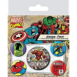 Pyramid International Marvel Retro - Badge Pack Iron Man