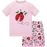 HIKIDS - Pijama Corto para niña - Pijamas de Manga Corta Verano para niña - Pijama Dos Piezas Summer niña - Pijamas de Manga
