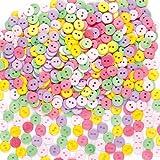 Mini Bottoni Colorati Ideali per Decorare e Personalizzare Bigliettini, Creazioni Fai Da Te e Collage (250 per confezione)