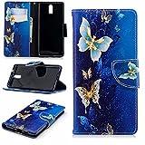 COWX Leder Kreditkarten Brieftasche Handy Schutzhülle für Nokia 3.1 (2018) Hülle Tasche Flip Case (BFP17)