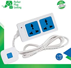 ProDot 2 Socket Plug (PSP-2S0U-1.5m) Surge Protector Strip Model-Multi Directional Multi-Country Input/1.5 Meters Cord Length/175 Joules 6000A 2500W