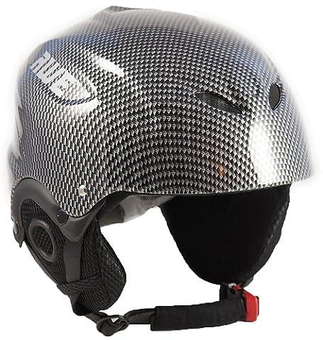 AWE® Adulte en casque de Ski Graphite, taille: 58-60cm - Sci Caschi