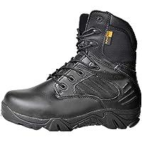 HJHHJHAB Les Hommes Bottes Tactique Bottes Militaires Ultraléger Respirante côté Zipper extérieur désert Chaussures de…