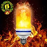 Lampe à Flamme, Beexcellent Ampoule à Effet de Flamme LED Lumières Simule Naturel torche E26 E27 Base pour Chambre Salon Bar et Porche De plein air Jardin Festival Party Décoration (Blanc) (Blanc)