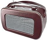 Dual NR 11 Lederoptik Nostalgieradio (UKW-/MW-Tuner, Eingebauter Lautsprecher, 3,5mm Kopfhöreranschluss, Trageriemen) braun