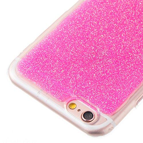 Cover iphone 6 Custodia iphone 6s Anfire Silicone Morbido Cassa Flessibile TPU Gomma Cristallo Protettiva Case per iphone 6 / 6s (4.7 Pollici) Antiurto Diamante Placcatura Copertura Trasparente Ultra  Rose Red