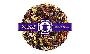 """Núm. 1150: Té de frutas """"Mango y maracuyá"""" - hojas sueltas - 250 g - GAIWAN® GERMANY - manzana, rosa mosqueta, hibisco, piña y papaya, saúco, naranja, girasol y de malva"""