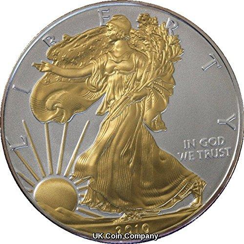 2010 American 1oz Fine Silver Gold Liberty Eagle Coin