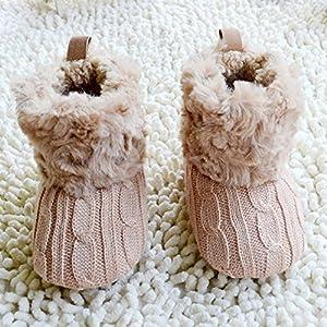 Froomer Bota Nieve de Ganchillo/Puntos de Lana Bota Infantil Preandador de Lana de Bebé marca Froomer