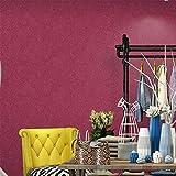 SunZhi modernen minimalistischen skandinavischen Seide non-woven plain Hintergrundbild rein europäischen Stil Wohnzimmer Schlafzimmer TV Hintergrund wand Tapeten, B1 rose rot, Tapeten nur