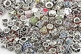 ILOVEDIY 45g Perles en Strass d'argent Compatibles avec les Bracelets de Européens