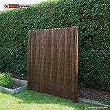 Homestyle4u Sichtschutz Sichtschutzmatte Weidenmatte Weidenzaun Gartenzaun Windschutz 500 cm x 200 cm