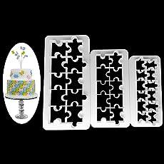 SimpleLife 3 Stück Kuchen Fondant Schneider Werkzeuge Schokolade Cookie Jigsaw Kunststoffform Werkzeug