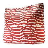 Shopper Taschen Armani Jeans Damen Baumwolle Rot und Weiß A520FW24L Rot 10x34x37 cm