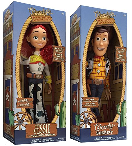 (Disney Store Exclusive Toy Story 3 Talking Woody and Jessie Dolls 16 by Disney)