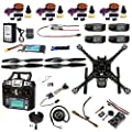 FEICHAO DIY RC Drone Full Kit 4-Axle S600 Frame PIX 2.4.8 Flight Control Buzzer Alarm FS-i6 Transmitter Motor GPS with Battery Charger
