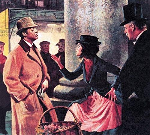 """Leinwand-Bild 30 x 30 cm: """"Professor Higgins and Eliza Doolittle"""", Bild auf Leinwand"""