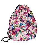 SIX SALE 'Trend' Rucksack, Turnbeutel, Damen Handtasche, day bag mit rosa Hintergrund und buntem Blumen Print Weihnachtsgeschenk (463-233)