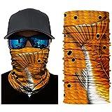 Isafish copricapo sciarpa pesca bandana confezione di pezzi sport fascia Wrap Headwrap Fish modello con trota Bass salmone Sword Mahi multifunzione senza cuciture Face Fishmask scaldacollo, Combo 01