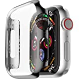Apple Watch 4 Hülle, 12shage 44 m PC Plated Plating Schutzhülle Bumpe Multicolor Hülle Allround Bumper Shell (Schwarz)