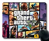 Popular Mouse Pad with Grand Theft Auto V GTA 5 1 Non-Slip Neoprene Rubber Standard Size 9 Inch(220mm) X 7 Inch(180mm) X 1/8 Inch(3mm) Mousepads