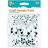 200pcs Googly Wobbly Wiggly Stick On Eyes Self Adhesive Children Kid Craft Arts