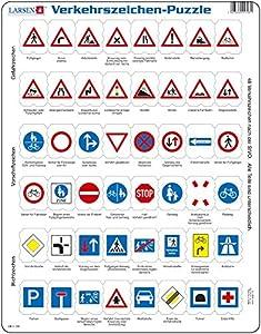 Larsen ob3-Puzzle de señales de tráfico, 48Piezas