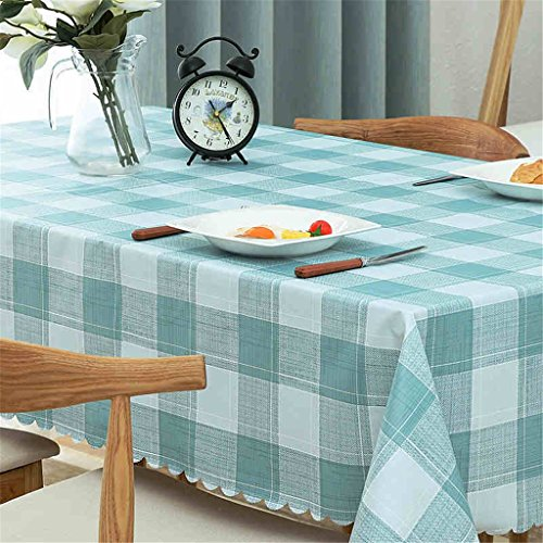 FEI Tischdecke PVC einfachen Stil blau quadratische rechteckige Tischdecke Abwischen Abendessen Picknick Tischdecke/Verschiedene Größen/waschbar (größe : 135x135cm)