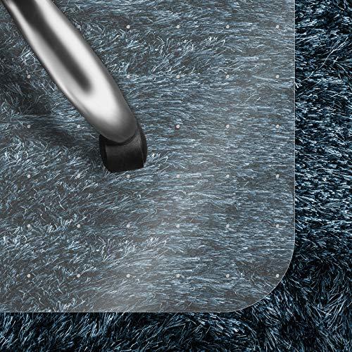 casa pura Bodenschutzmatte Transparent für Hochflor-Teppich | Schreibtischstuhl Unterlage für Büro und Wohnen | Bodenmatten wahlweise für Teppich/Hartböden (Hochflor-Teppich 120x130 cm)