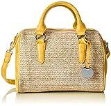Tamaris Damen Neve Bowling Bag Tasche, Gelb (Yellow Comb), 19.5x21x29.5 cm