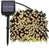 Luces solares,Sportgirls 72ft 200 LED Guirnalda de Luces solar exterior,arbol led,iluminación solar jardín exterior decrotion, 8 modos de luces exteriores interiores titilantes (amarillo)