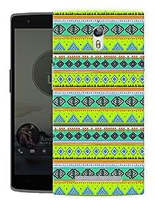 "Humor Gang Green Aztec Ethnic Print Printed Designer Mobile Back Cover For ""Oppo Find 7"" (3D, Matte Finish, Premium Quality, Protective Snap On Slim Hard Phone Case, Multi Color)"