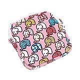 BHYDRY donne ragazza carina sanitario Pad organizzatore titolare tovagliolo asciugamano convenienza borse(11.5 * 11.5cm,Rosa)