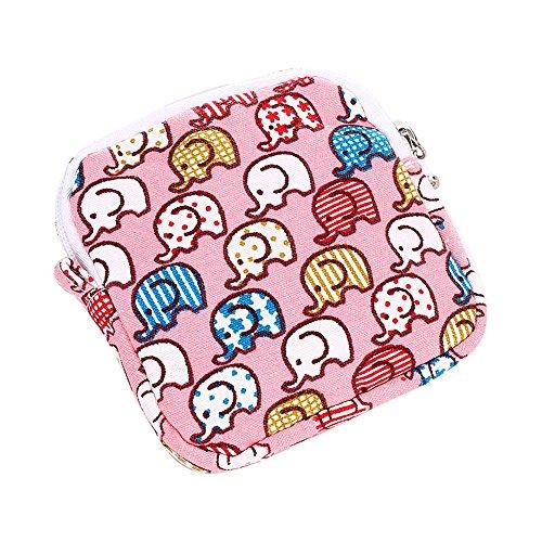 Damenhandtaschen Ronamick Frau Mädchen Niedlich Sanitär Pad Organizer Halter Serviette Handtuch Convenience Bags (Pink) (Sanitär-pad-halter)