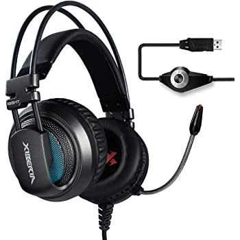 XIBERIA V10 PS4 PC Gaming Cuffie 7.1 Audio Circondare Cancellazione del  rumore Over-Ear Auricolari con Microfono (Grigio) 3c135dfdc0e1