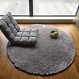 Unbekannt #Wohnzimmerteppich Runder Bereich Teppich, Grauer Teppich runder Korb Decke Schlafzimmer Yoga Decke Wohnzimmer Kaffeetisch Teppich Decken (Farbe : B, größe : ROUND-100CM)