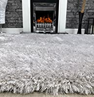 Super Plush Soft Touch Shag Pile Modern Area Rug - 70mm Pile - Stain Resistant Quality Modern Rug - 100% Polyester - 3.2KG Per Metre Square - Lounge Rug by Modern Style Rugs
