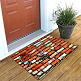 #4: Shree Fashion Hub Beautiful 3D Design Soft Flannel & Anti-Slip Indoor-Outdoor Welcome Door Mats For Home