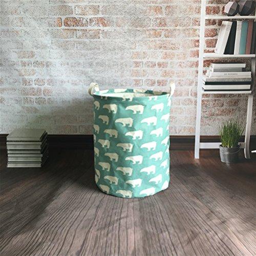 Preisvergleich Produktbild Inwagui Faltbare Wäschekörbe Wäschesäcke,Kinder Spielzeug Aufbewahrungskorb Aufbewahrungstasche 35 * 45cm-Bär A
