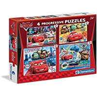Clementoni  77038 - Puzzle Cars, 20 + 60 + 100 + 180 Pezzi